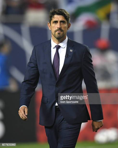 AllStar head coach Veljko Paunovic prior to a soccer match between the MLS AllStars and Real Madrid on August 2 at Soldier Field in Chicago IL