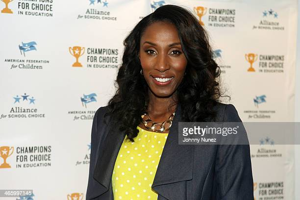 Allstar Lisa Leslie attends Deion Sanders' Super Bowl Event at Affinia on January 30 in New York City