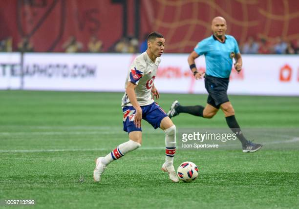 AllStar Midfielder Miguel Almiron during the MLS AllStar Game between Juventus and the MLS AllStars on August 1 2018 at MercedesBenz Stadium in...