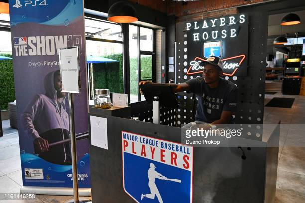 AllStar Players House Presented by MLBPA located at the Corner Alley Bar Grill on July 09 2019 in Cleveland Ohio