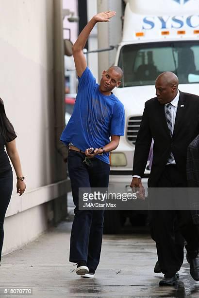 AllStar Reggie Miller is seen at 'Jimmy Kimmel Live' on March 29 2016 in Los Angeles California