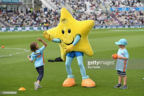 Allstars Cricket children pictured during day two of the 4th Specsavers Test match between England and India at The Ageas Bowl on August 31 2018 in...