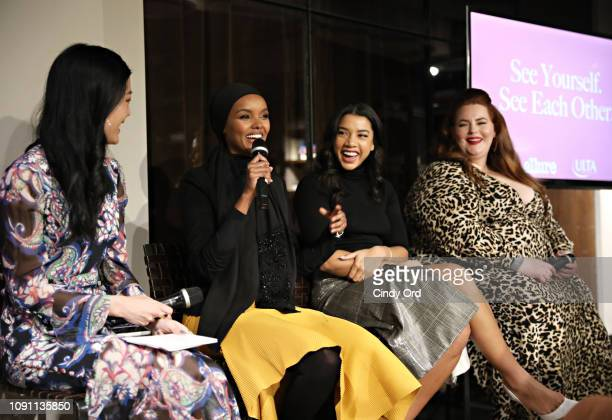 """AllureÕs Michelle Lee, Halima Aden, Hannah Bronfman and Tess Holliday take part in a panel discussion as Allure and Ulta Beauty host """"See Yourself,..."""