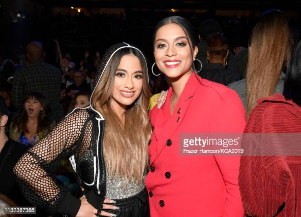 Ally Brooke and Lilly Singh attend Nickelodeon's 2019 Kids' Choice Awards at Galen Center on March 23 2019 in Los Angeles California