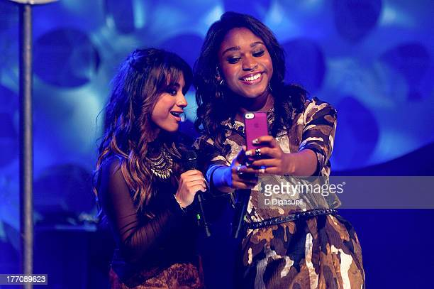 """Ally Brooke and Normani Kordei Hamilton of Fifth Harmony perform at a """"Crazy Good VMA Concert Event"""" presented by MTV and Pop Tarts at Music Hall of..."""