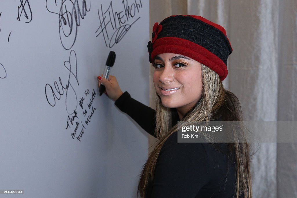 Fifth Harmony Member Ally Brooke at AOL Studios In New York on December 8, 2015 in New York City.