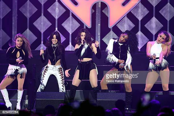Ally Brooke Camila Cabello Lauren Jauregui Normani Kordei and of Fifth Harmony perform onstage at Hot 995's Jingle Ball 2016 at Verizon Center on...
