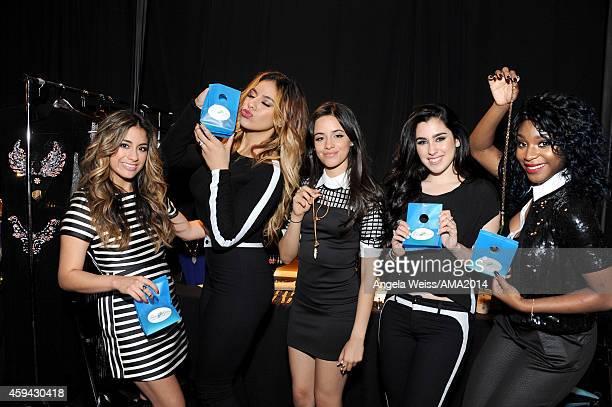 "Ally Brooke, Dinah Jane Hansen, Camila Cabello, Lauren Jauregui and Normani Hamilton of ""5th Harmony"" attends the 2014 American Music Awards UPS..."