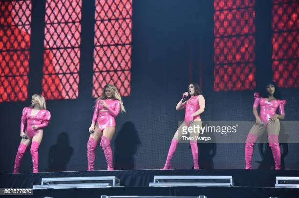 Ally Brooke Dinah Jane Lauren Jauregui and Normani Kordei of Fifth Harmony perform onstage during TIDAL X Brooklyn at Barclays Center of Brooklyn on...