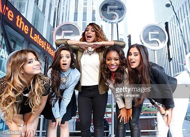 Ally Brooke Hernandez Camila Cabello Dinah Jane Hansen Normani Hamilton and Lauren Jauregui of Fifth Harmony perform during FOX Friends outside of...