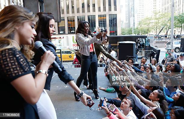 Ally Brooke Hernandez Lauren Jauregui Normani Hamilton Dinah Jane Hansen and Camila Cabello perform during FOX Friends All American Concert Series...