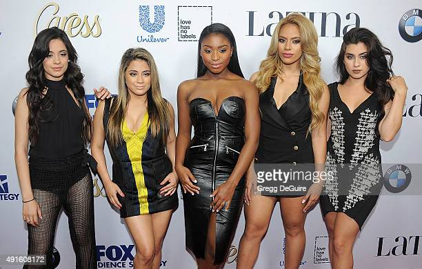 Ally Brooke Hernandez Normani Kordei Dinah Jane Hansen Camila Cabello and Lauren Jauregui of Fifth Harmony arrive at the Latina 'Hot List' Party at...