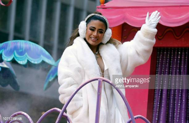 Ally Brooke is seen during the Macy's Thanksgiving Day Parade on November 22 2018 in New York City