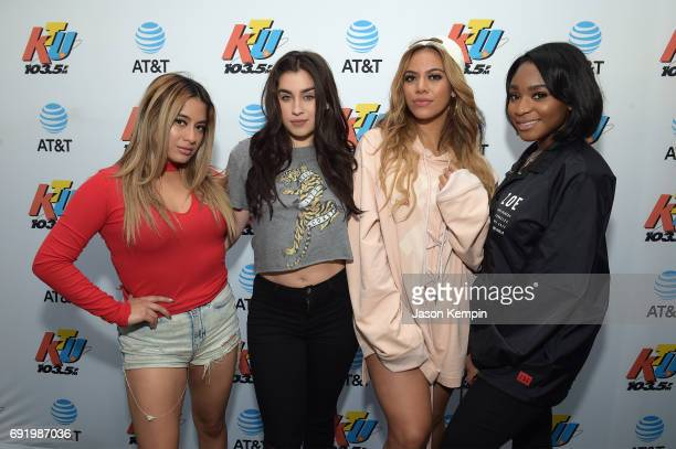 Ally Brooke Lauren Jauregui Dinah Jane and Normani Kordei of Fifth Harmony attend 1035 KTU's KTUphoria 2017 presented by ATT at Northwell Health at...