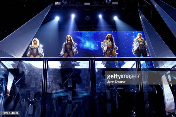 Ally Brooke Lauren Jauregui Normani Kordei and Dinah Jane of Fifth Harmony perform onstage during the 2017 MTV Video Music Awards at The Forum on...