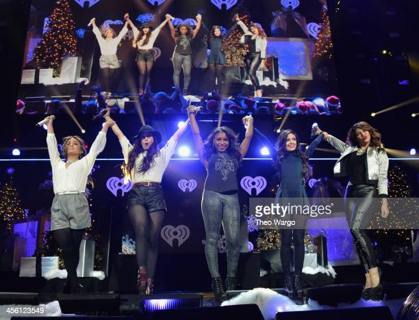 Ally Brooke Lauren Jauregui Normani Kordei Camila Cabello and Dinah Jane Hansen of Fifth Harmony perform onstage during Z100's Jingle Ball 2013...