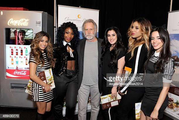 Ally Brooke, Normani Hamilton, Bob Weir, Lauren Jauregui, Dinah Jane Hansen and Camila Cabello attend the 2014 American Music Awards UPS Gifting...