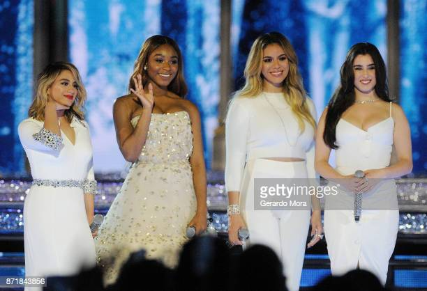 Ally Brooke Normani Kordei Dinah Jane and Lauren Jauregui of Fifth Harmony perform during the taping of 'The Wonderful World Of Disney Magical...