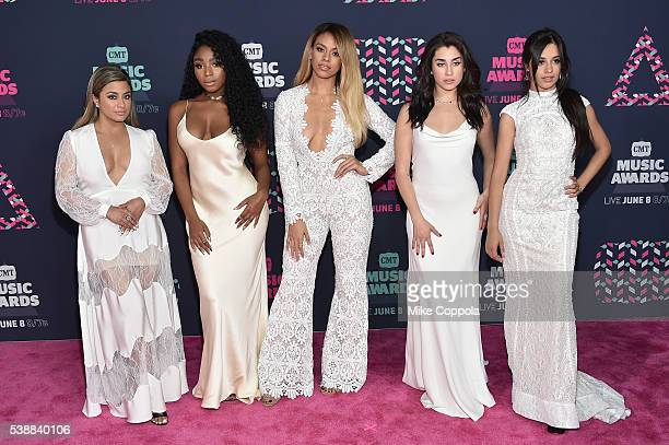 Ally Brooke Normani Kordei Dinah Jane Camila Cabello and Lauren Jauregui from muscial group Fifth Harmony attends the 2016 CMT Music awards at the...