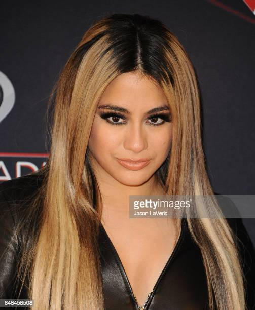 Ally Brooke of Fifth Harmony poses in the press room at the 2017 iHeartRadio Music Awards at The Forum on March 5 2017 in Inglewood California