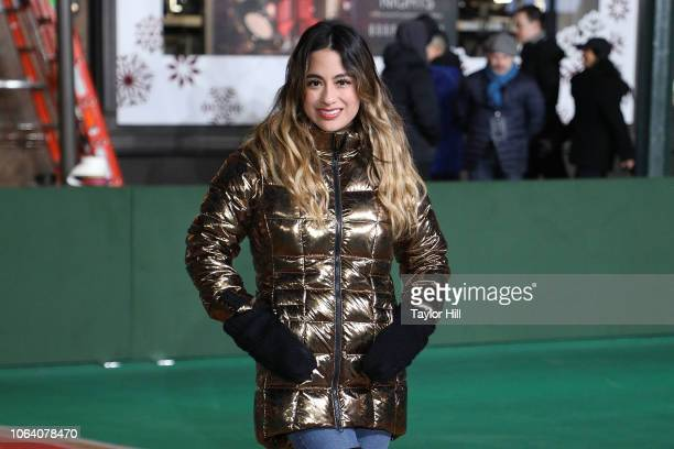 Ally Brooke performs during Day 2 of the 2018 Macy's Thanksgiving Day Parade Rehearsals at Macy's Herald Square on November 20 2018 in New York City