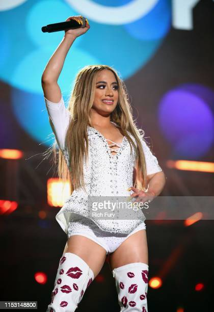 Ally Brooke performs onstage at 2019 iHeartRadio Wango Tango presented by The JUVÉDERM® Collection of Dermal Fillers at Dignity Health Sports Park on...