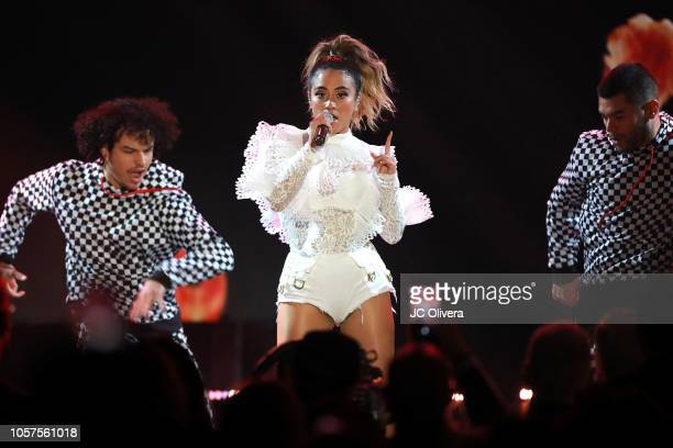 Ally Brooke performs onstage during The ALMAs 2018 LIVE On Fuse at LA Live Event Deck on November 4 2018 in Los Angeles California