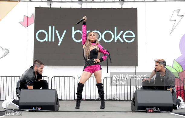 Ally Brooke performs onstage during the KIIS FM Wango Tango Village at 2019 iHeartRadio Wango Tango at Dignity Health Sports Park on June 01 2019 in...