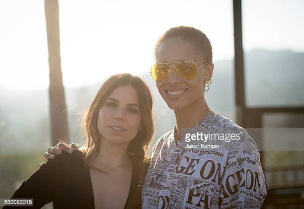 Ally Hilfiger and Adwoa Aboah attend a party for Bite Me At Mama Shelter Hollywood on May 17 2016 in Los Angeles California