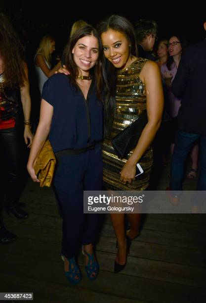 Ally Hilfiger and Angela Simmons attends DuJour Magazine's event to honor artist Marc Quinn at Delano South Beach Club on December 4 2013 in Miami...