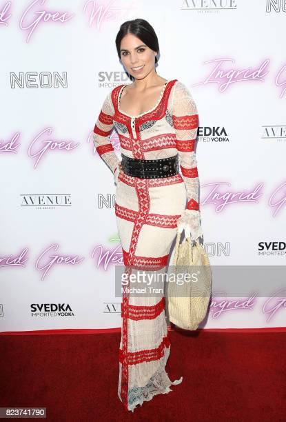 Ally Hilfiger arrives at the Los Angeles premiere of Neon's Ingrid Goes West held at ArcLight Hollywood on July 27 2017 in Hollywood California