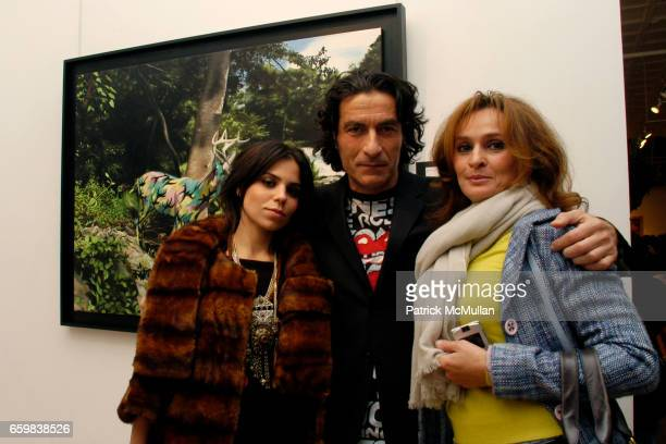Ally Hilfiger Eric Allouche and guest Kipishonva attend IMMORTAL UNDERGROUND by RON ENGLISH at Opera Gallery on November 12 2009 in New York City