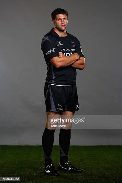 Ally Hogg Captain of Newcastle Falcons poses for a portrait during the Aviva Premiership Rugby 20162017 Season Launch at Twickenham Stadium on August...