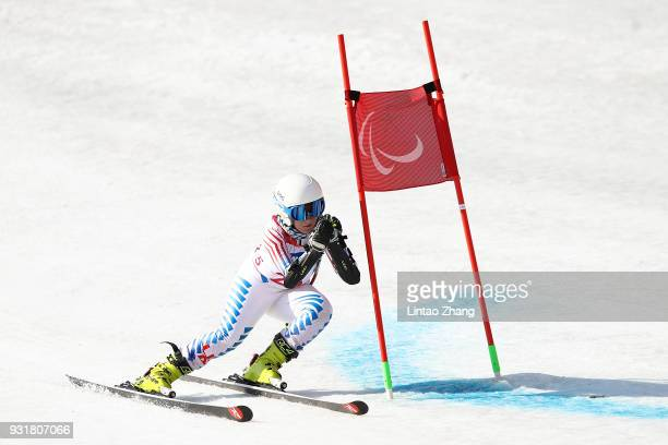 Ally Kunkel of the United States competes in the Women's Standing Giant Slalom at Jeongseon Alpine Centre on Day 5 of the PyeongChang 2018 Paralympic...