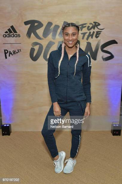 Ally Love attends adidas x Parley 'Run For The Oceans' event harnessing the power of sport and continued fight against the threat of marine plastic...