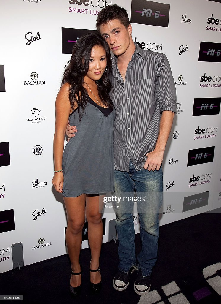 Ally Maki and Colton Haynes attend Mi-6 Nightclub Grand Opening Party on September 15, 2009 in West Hollywood, California.