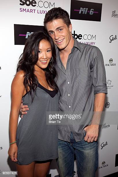 Ally Maki and Colton Haynes attend Mi6 Nightclub Grand Opening Party on September 15 2009 in West Hollywood California