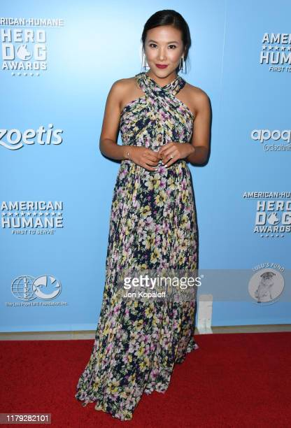Ally Maki attends the 9th Annual American Humane Hero Dog Awards at The Beverly Hilton Hotel on October 05 2019 in Beverly Hills California