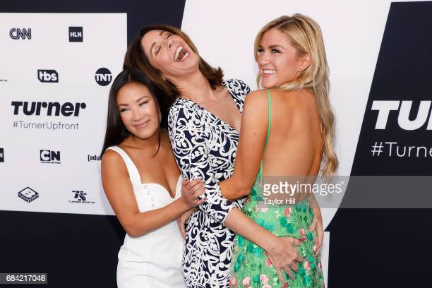 Ally Maki Brooke Dillman and Jessica Lowe attend the 2017 Turner Upfront at Madison Square Garden on May 17 2017 in New York City