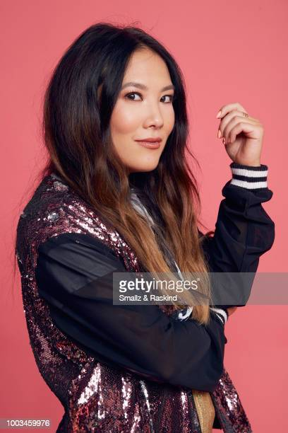 Ally Maki from Marvel's 'Cloak Dagger' poses for a portrait at the Getty Images Portrait Studio powered by Pizza Hut at San Diego 2018 Comic Con at...