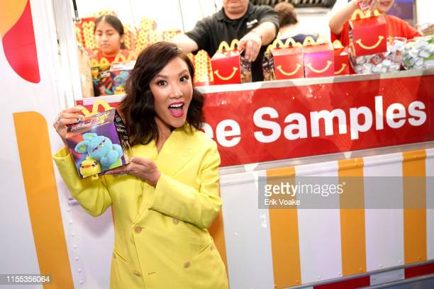 "Ally Maki is seen as McDonald's treats guests to Happy Meals at the ""Toy Story 4"" Premiere After Party at El Capitan Theatre on June 11, 2019 in Los..."