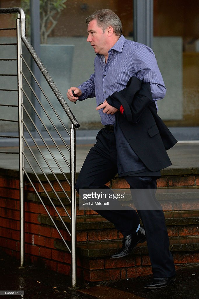 Ally McCoist coach of Rangers leaves Ibrox Stadium on April 24, 2012 in Glasgow, Scotland. Rangers have received a 12 month transfer embargo and a GBP 160,000 fine from the Scottish FA, while current owner Craig Whyte as been banned for life from any involvement in Scottish Football.