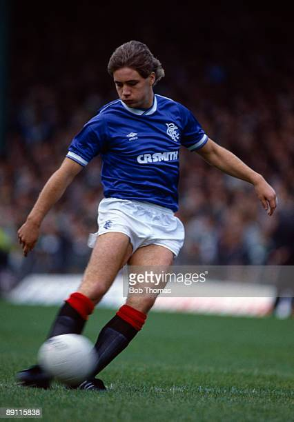 Ally McCoist in action for Glasgow Rangers 31st August 1985