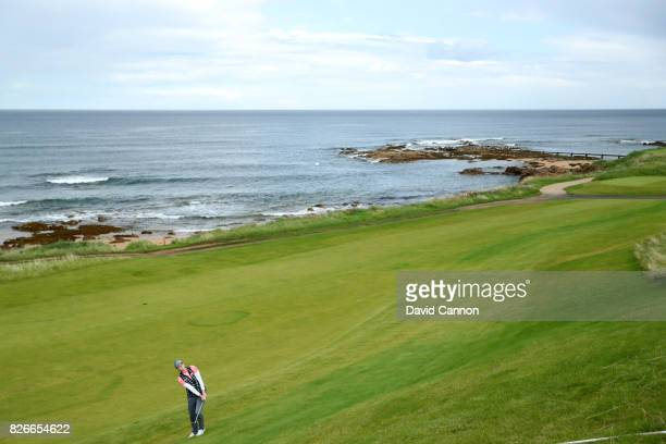 Ally McDonald of the United States hits her third shot on the 3rd hole during the third round of the Ricoh Women's British Open at Kingsbarns Golf...