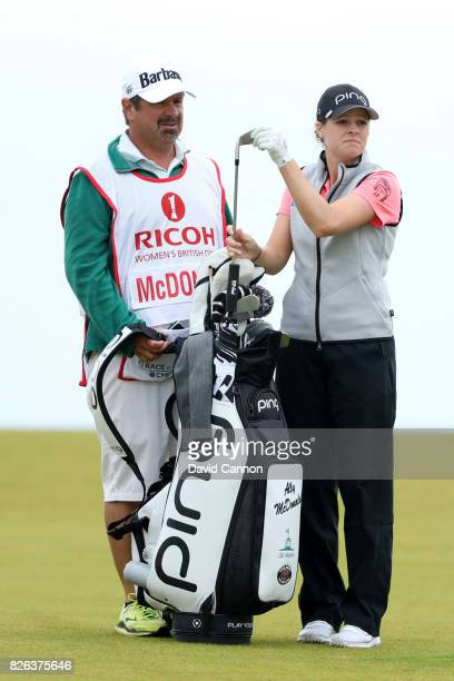 Ally McDonald of the United States looks down the 17th hole during the second round of the Ricoh Women's British Open at Kingsbarns Golf Links on...