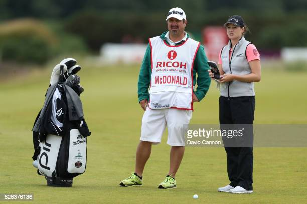 Ally McDonald of the United States looks down the 18th hole during the second round of the Ricoh Women's British Open at Kingsbarns Golf Links on...