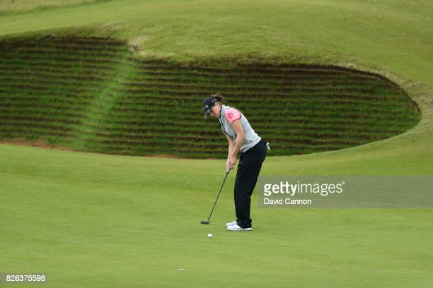 Ally McDonald of the United States putts on the 17th green during the second round of the Ricoh Women's British Open at Kingsbarns Golf Links on...