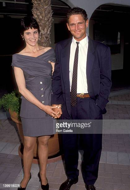 Ally Sheedy and David Lansbury at the 1992 Outreach Awards Paramount Studios Hollywood