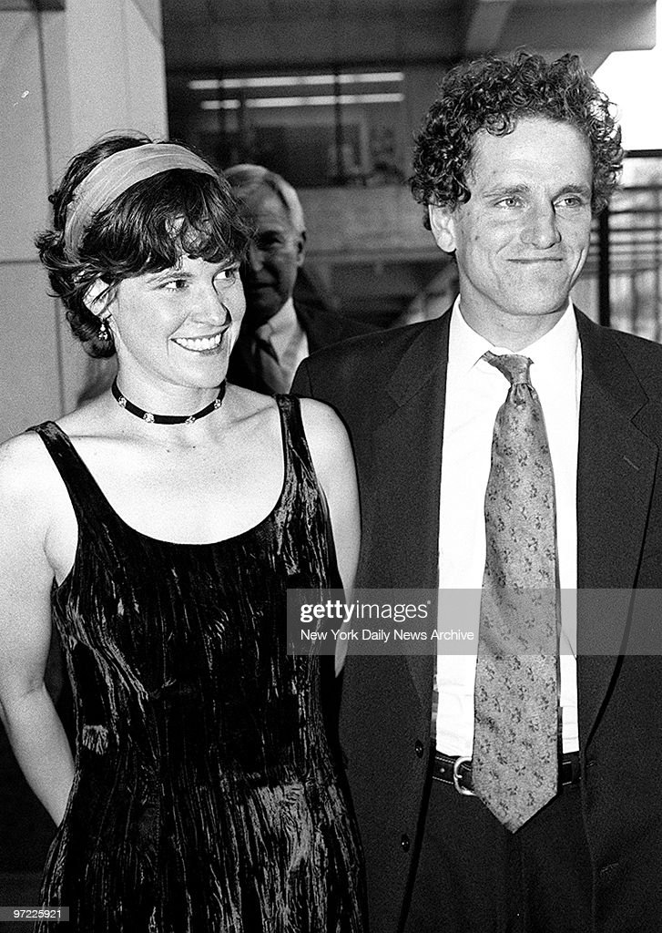 Ally Sheedy and husband David Lansbury attending premiere of : News Photo