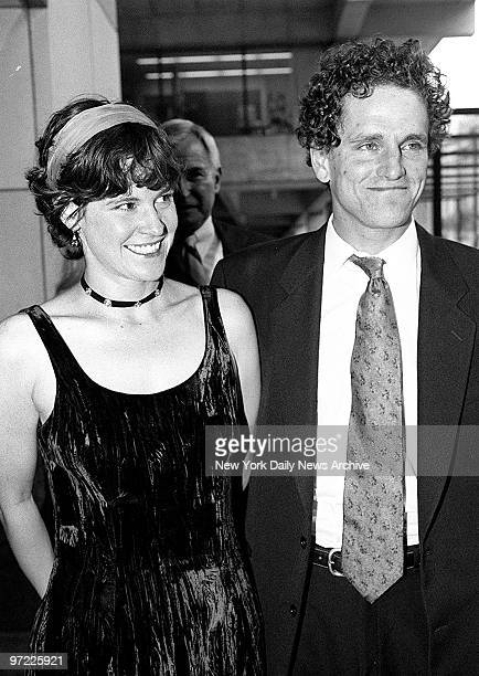 Ally Sheedy and husband David Lansbury attending premiere of Chantilly Lace at Lincoln Center